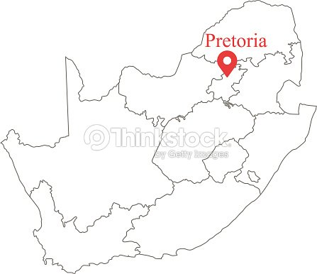 Blank Outline Map Of South Africa With Province Borders