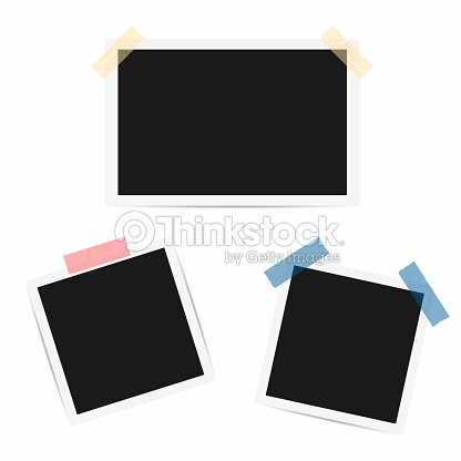Blank Photo Frame Retro Frames With Duct Tape Vector Art | Thinkstock