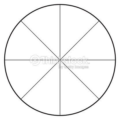 Blank Polar Graph Paper Protractor Pie Chart Vector Vector Art