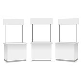 Blank Promotion Stands on a white background. Vector illustration