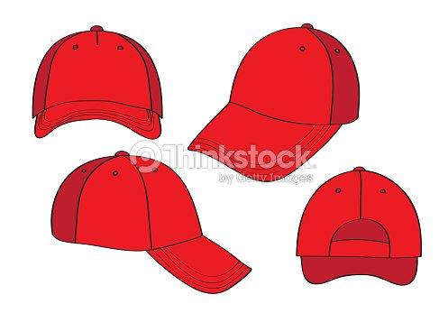 30b82775 Blank Red Caps stock vector - Thinkstock