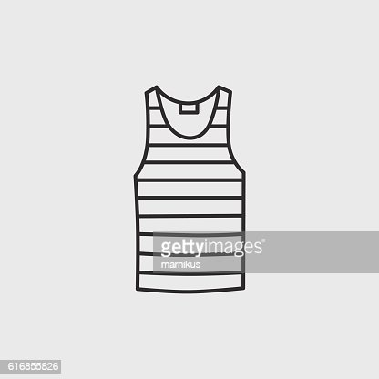 Blank singlet template - front and back : Vector Art