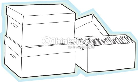 Blank Storage Bo Vector Art