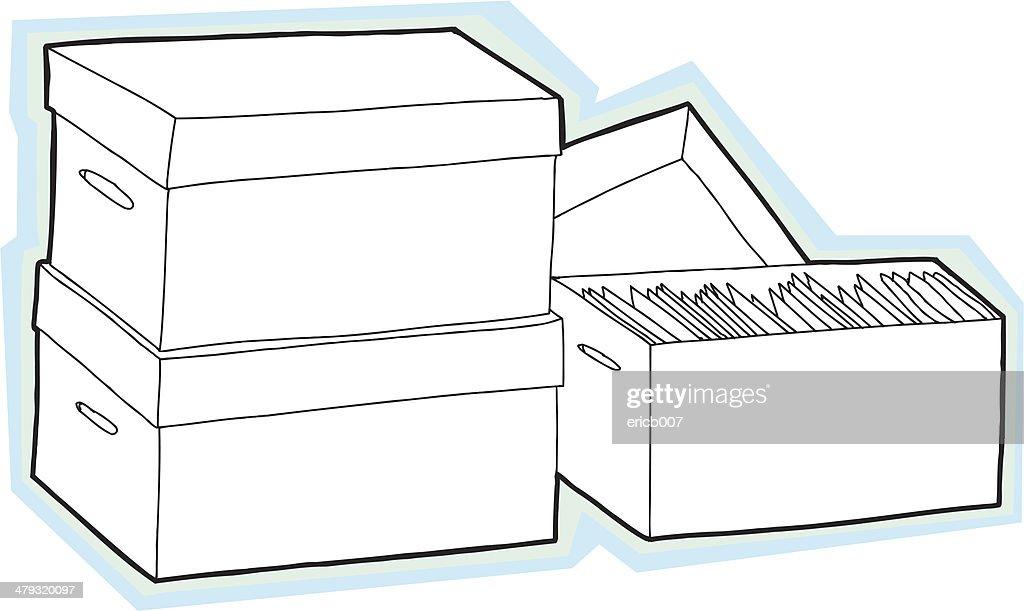 Leere Aufbewahrung Boxen : Vektorgrafik