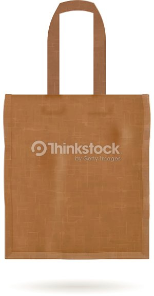 Blank Tote Bag Template Isolated