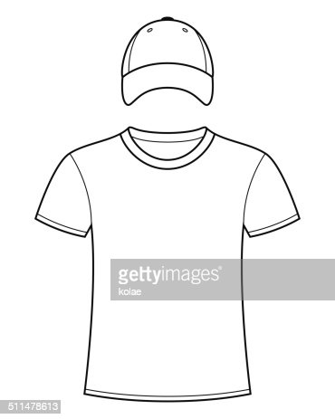 Blank Tshirt And Cap Template Vector Art | Thinkstock