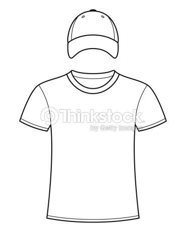 69ea8283bb3 Blank Tshirt And Cap Template stock vector - Thinkstock