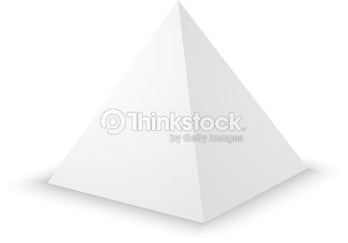 blank white pyramid 3d template vector art thinkstock