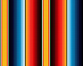 Blanket stripes seamless vector pattern. Background for Cinco de Mayo party decor or ethnic mexican fabric pattern with colorful stripes. Serape gesign