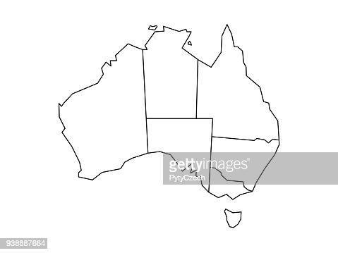 Blind map of Australia : stock vector