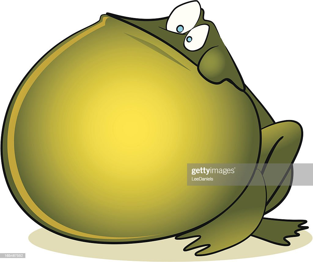 bloated frog cartoon vector art getty images