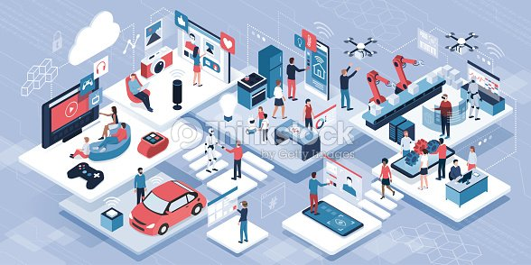 Blockchain, internet of things and lifestyle : stock vector