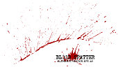 Blood splatter elements on white background . Criminal concept . Vector .