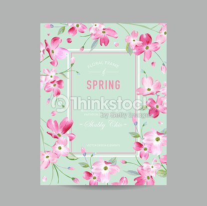 Blooming spring and summer floral frame watercolor sakura flowers blooming spring and summer floral frame watercolor sakura flowers for invitation wedding baby shower card in vector stopboris Choice Image