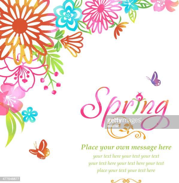 Fleurs de printemps des fleurs d'angle