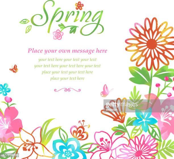 Fleurs de printemps des fleurs de fond