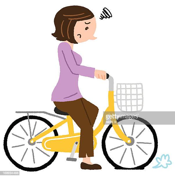 Flat tyre stock illustrations and cartoons getty images for Bike tire art