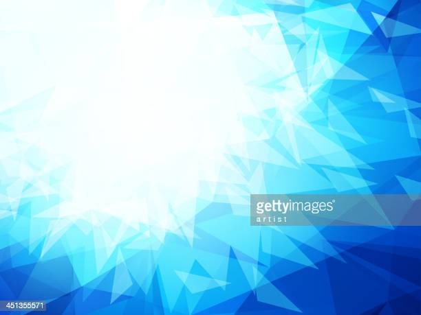 Blue abstract background with geometric shapes