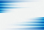 Blue abstract horizonal lines background technology with polygon geometric, Vector illustration