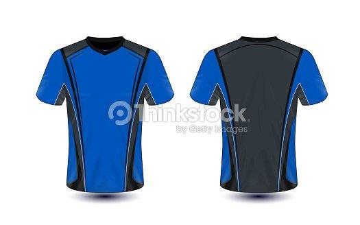 Blue And Black Layout Esport Tshirt Design Template Vector Art