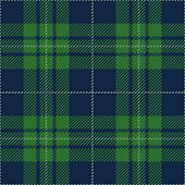 Blue and green seamless traditional tartan plaid pattern design.