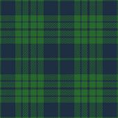 Blue and green seamless traditional tartan plaid pattern design.