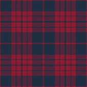 Blue and red seamless traditional tartan plaid pattern design.