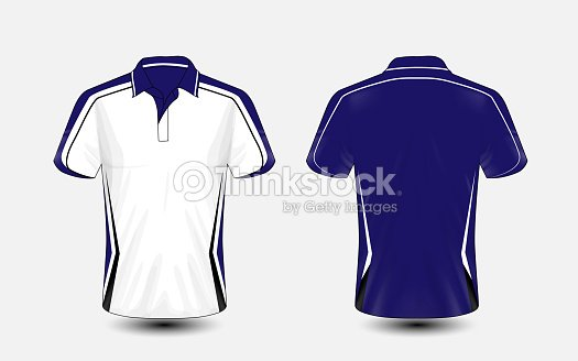 Blue And White Layout Esport Tshirt Design Template Vector Art