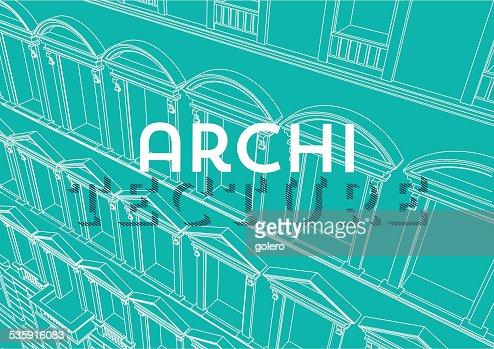 blue architecture background : Vector Art