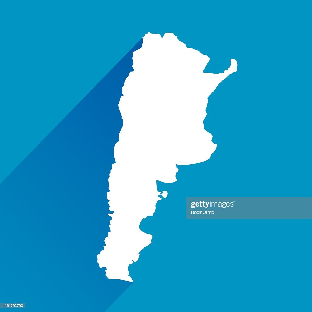 Blue Argentina Map Icon Vector Art Getty Images - Argentina map vector
