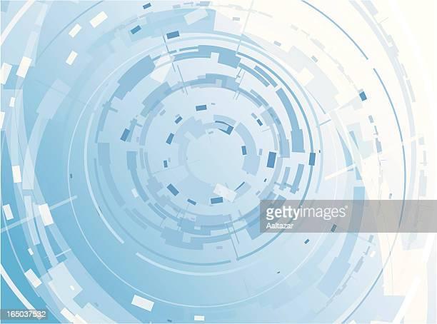 Blau Hintergrund-Techno-Ringe