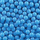 Background of many blue balls