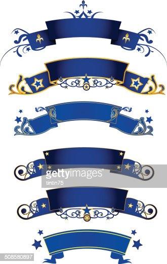 blue banners : Vector Art