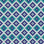blue bead geometric pattern