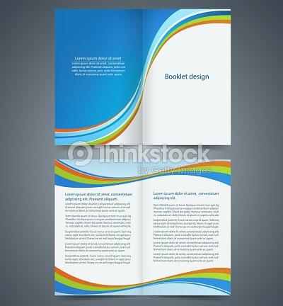 Blue Bifold Brochure Template Design Business Leaflet Booklet Vector - Bifold brochure template