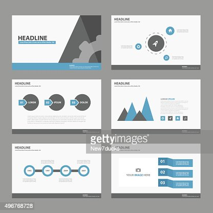 blue black multipurpose presentation template infographic elements, Powerpoint templates