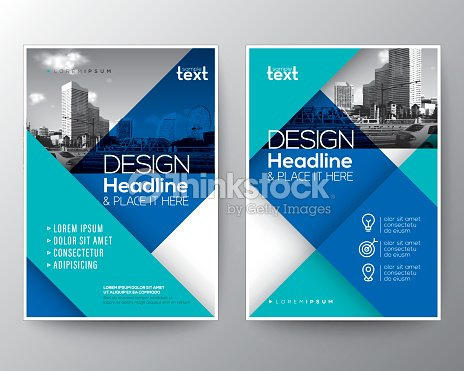 blue brochure annual report cover flyer poster design layout