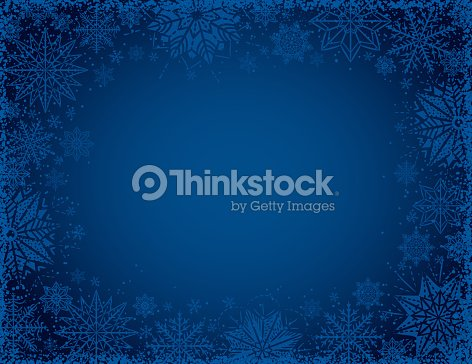 Blue christmas background with frame of snowflakes and stars, vector illustration : stock vector