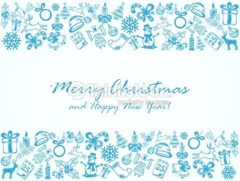 Disegni Di Natale Vettoriali.Sfondo Di Natale Blu Con Disegni Elementi Arte Vettoriale Thinkstock