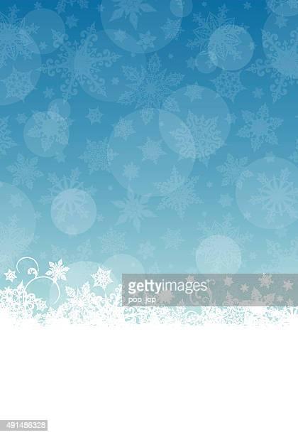 Blue Christmas Banner - Snowflakes