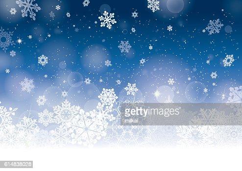 Blue Christmas winter background : ベクトルアート