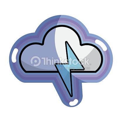 Blue cloud and thunder storm weather