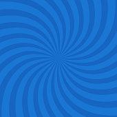 blue color circle swirl burst background. Vector illustration.