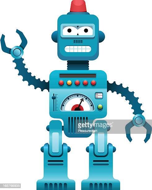 Blue complex robot