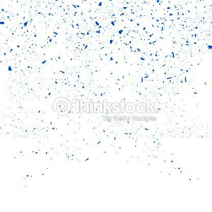 Confetti bleu Seamless Pattern. Ensemble de particules : clipart vectoriel
