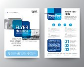 Blue cross graphic element Brochure cover Flyer Poster design Layout vector template in A4 size