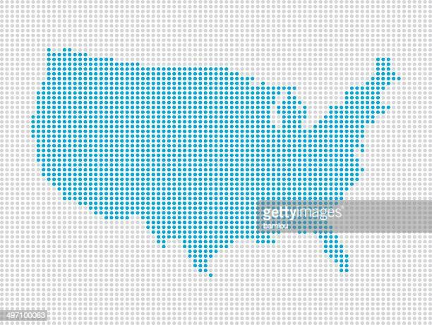 USA blue dots