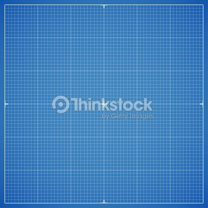 blue drawing millimeter paper with linear markings vector