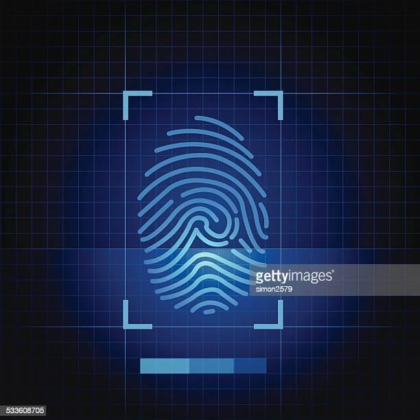 Imprimé bleu doigt