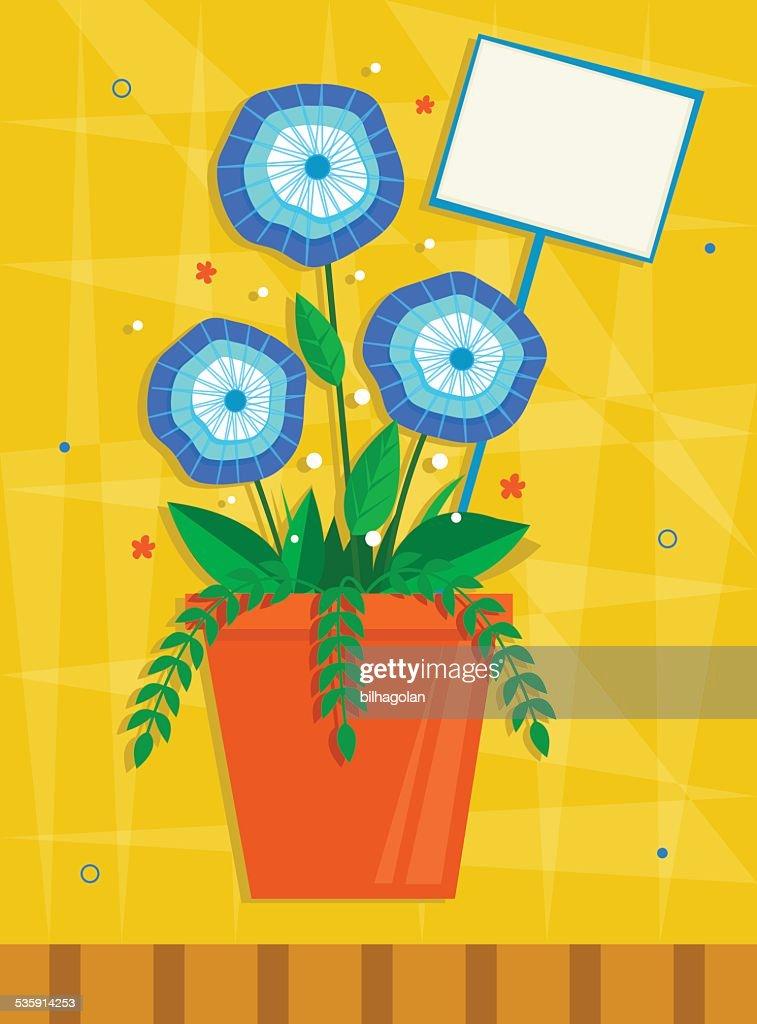 Flores azul : Arte vectorial